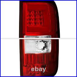 04-08 Ford F150 Lobo LED Light Bar Tube Clear Red Brake Signal Rear Tail Lamp
