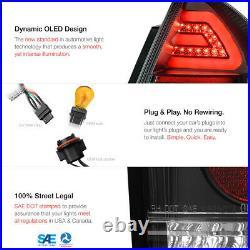 06-13 Chevy Impala OLED Plasma Light Tube Black Clear LED Tail Brake Signal Lamp