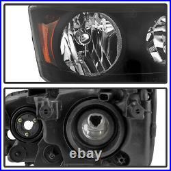 11-17 Dodge Grand Caravan 08-16 Chrysler Town&Country Black Amber Headlight Lamp