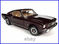 1965 Ford Mustang 2+2 Burgundy Met. Anniversary 118 Scale By Autoworld Amm1248