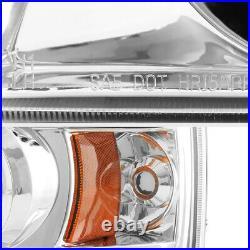 2004-2008 Ford F150 Lobo Chrome Angel Eye Halo LED DRL Projector Headlights PAIR