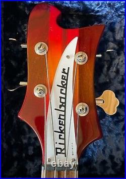 2021 Rickenbacker 90th Anniversary Limited Edition 4005XC AFG Amber FireGlo Semi