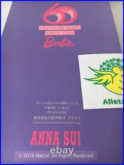 Barbie ANNA SUI Doll set 60th Anniversary Figure Limited Edition