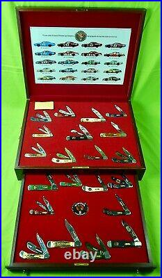 Case XX Limited Edition Winston Motor Sports 20th Anniversary Folding Knife Set