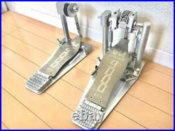 DW 9000 Titanium Limited Edition Bass Drum Double Pedal 30th Anniversary Rare