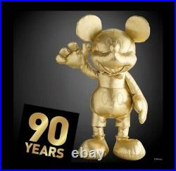 Disney Mickey Mouse LARGE Plush 90th Anniversary Gold Collection Limited Edition