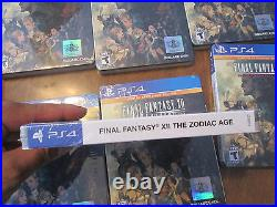 Final Fantasy XII The Zodiac Age Limited SteelBook Edition PS4 30th ANNIVERSARY
