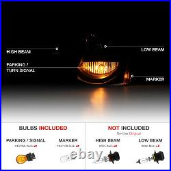 For 05-07 Jeep Grand Cherokee WK Limited Laredo Black Front Headlight Assembly
