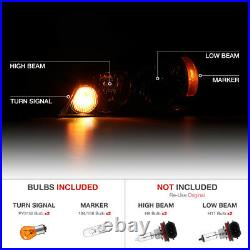For 06-13 Chevy Impala SINISTER BLACK SMOKE Front Headlight Lamp LEFT+RIGHT