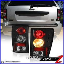 For 2005-2006 Jeep Grand Cherokee Sport Left+Right Black Altezza Tail Light Lamp