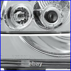 For 2005-2007 Jeep Grand Cherokee WK 4X4 Chrome Euro Angel Eye Headlights PAIR
