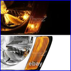 For 2005-2007 Jeep Grand Cherokee WK FACTORY STYLE Chrome Headlights Assembly