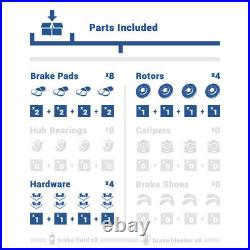 Front And Rear Brake Disc Rotors & Ceramic Pads For Baja Subaru Legacy Outback