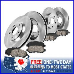 Front+Rear Brake Rotors & Ceramic Pads For 2003 2004 2005 2006 2007 Jeep Liberty