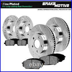 Front+Rear Brake Rotors Metallic Pads For 2003 2004 2005 2006 2007 Jeep Liberty