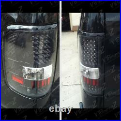 ^MURDER OUT^ 04-08 Ford F150 Black Red LED Tail Light Rear Signal Brake Lamp Set