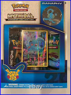 Manaphy Mythical Collection Generations 20th Anniversary Pokemon Promo Box XY113