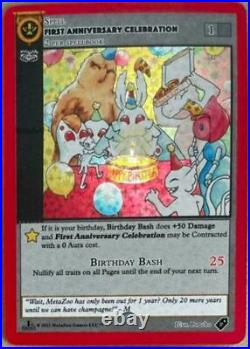 MetaZoo First Anniversary Celebration Promo Card 1st Edition Sealed NEW