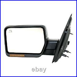 Mirror For 2007-2008 Ford F-150 Power Folding With Puddle Light Paintable Left