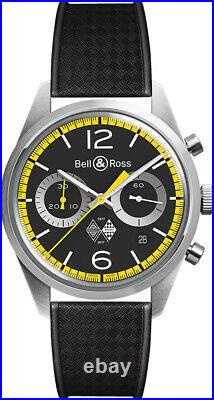 New Authentic Bell & Ross Vintage Limited Edition BRV126-RS40-ST/SRB Men's Watch