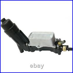 Oil Filter Housing Adapter & Oil Cooler Fits 2014 2015 Jeep Grand Cherokee 3.6L