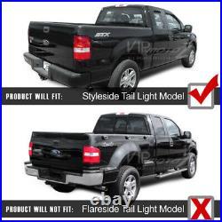 SINISTER BLACK 2004-2008 Ford F150 PickUp Smoke LED SMD Rear Tail Lights Brake