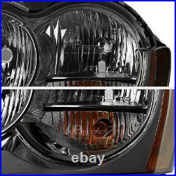 SMOKE For 2005-2007 Jeep Grand Cherokee WK Tinited Front Headlights Assembly