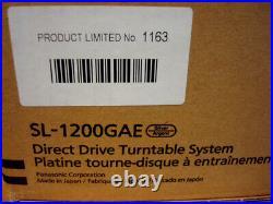 Technics Sl-1200gae Direct Drive 50th Anniversary Limited Edition Turntable 110v