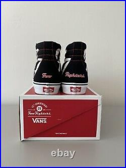 Vans x Foo Fighters Sk8 Hi 25th Anniversary Skate Shoe Size 8.5 READY TO SHIP